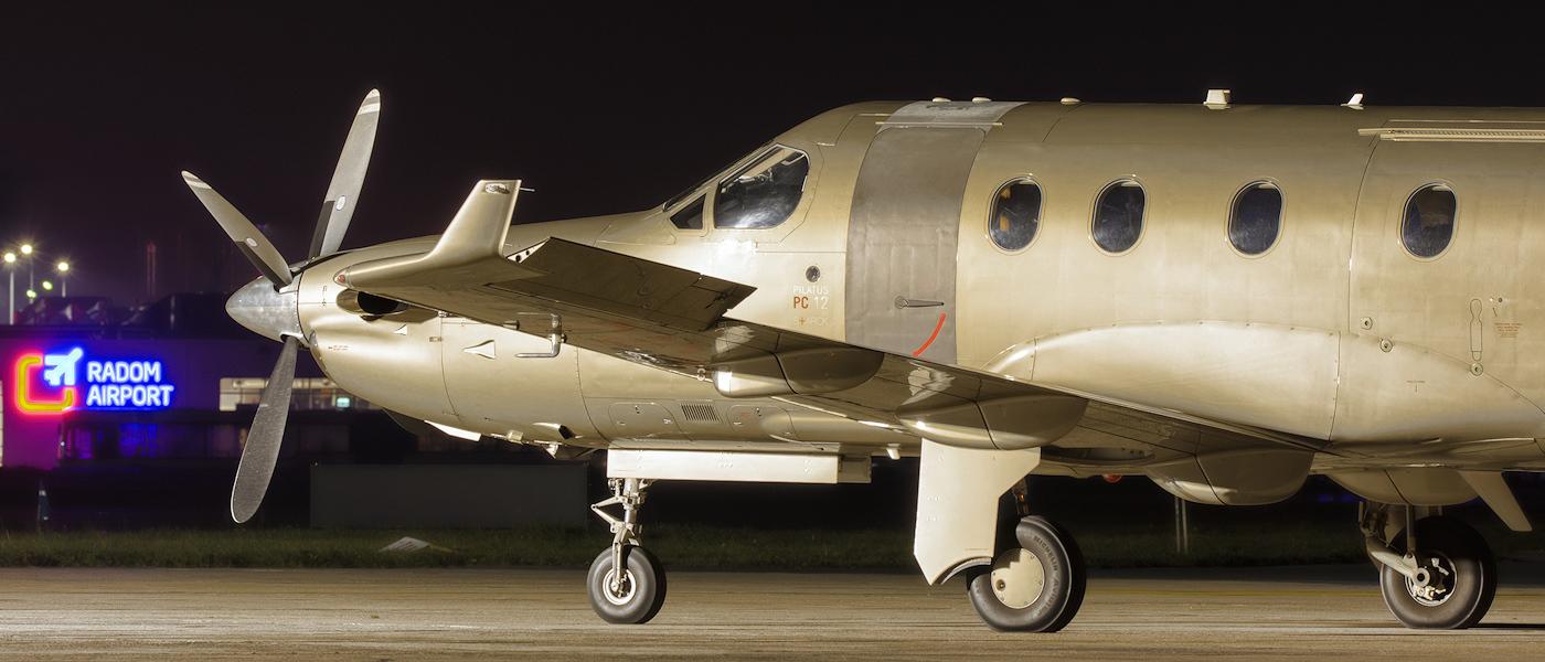 Pilatus PC-12 at Radom Airport